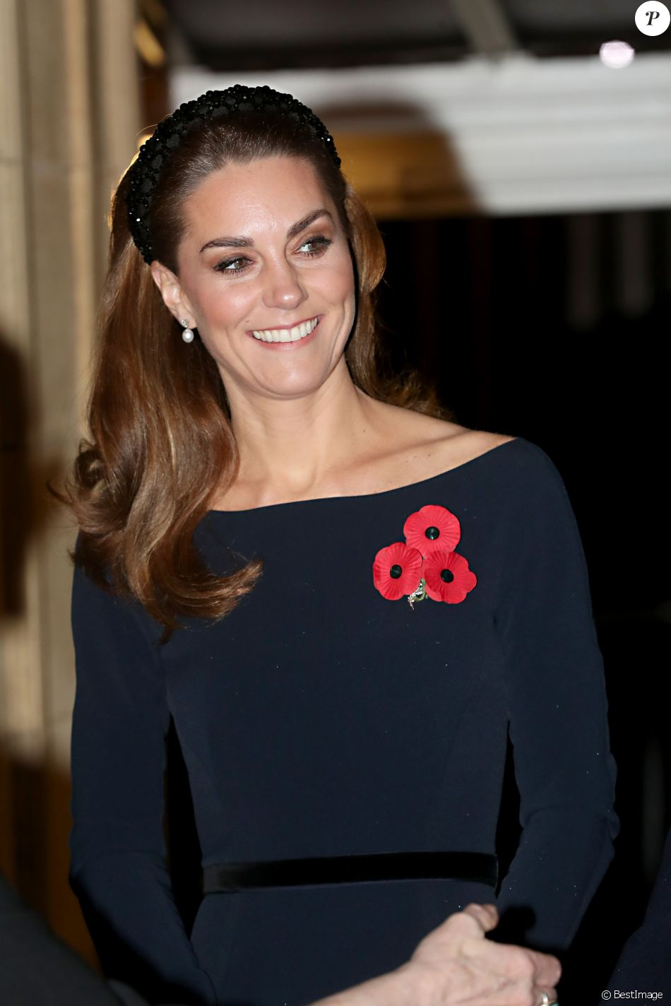Kate Middleton, duchesse de Cambridge - La famille royale assiste au Royal British Legion Festival of Remembrance au Royal Albert Hall à Kensington, Londres, le 9 novembre 2019.