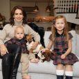 Hilaria Baldwin partage un moment en famille avec ses quatre enfants Leonardo, Rafael, Carmen et Romeo. New York. Le 9 octobre 2019. @Michael Simon/Startraks/ABACAPRESS.COM