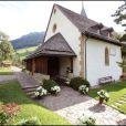 L'église de Lauenen où s'est déroulé le baptême de Joy à Gstaad en Suisse le 5 juillet 2009