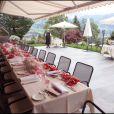 Le restaurant Sonnehof où s'est déroulé le déjeuner du  baptême de Joy à Gstaad en Suisse le 5 juillet 2009