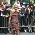 """La star de l'émission """"The Voice"""", Gwen Stefani quitte les studios ABC de l'émission """"The View"""" à New York le 24 septembre 2019."""