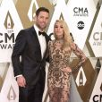 Mike Fisher et Carrie Underwood assistent à la 53ème édition des CMA Awards à Nashville dans le Tennessee, le 13 novembre 2019.