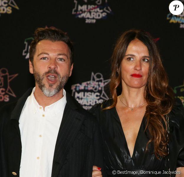 Christophe Maé et sa femme Nadège Sarron - 21ème édition des NRJ Music Awards au Palais des festivals à Cannes le 9 novembre 2019. © Dominique Jacovides/Bestimage