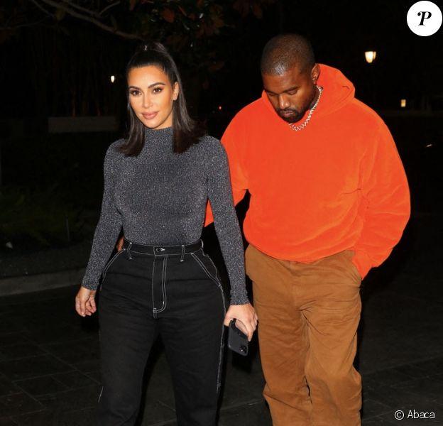 Kim Kardashian et Kanye West à Houston. Le 16 novembre 2019.