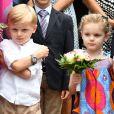 Le prince Jacques et la princesse Gabriella de Monaco durant le traditionnel Pique-nique des monégasques au parc princesse Antoinette à Monaco le 6 septembre 2019. © Bruno Bebert / PRM / Bestimage