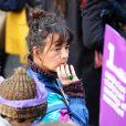 Romane Bohringer participe à la marche contre les violences sexistes et sexuelles (marche organisée par le collectif NousToutes), partie de Place de l'Opéra jusqu'à la Place de la Nation. Paris, le 23 Novembre 2019 © Cyril Moreau / Bestimage