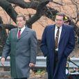 """Robert De Niro et Al Pacino sur le tournage de """"The Irishman"""" dans le quartier du Bronx à New York. Le 20 décembre 2017"""