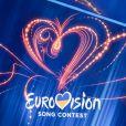 """Le vainqueur de français de """"Destination Eurovision 2019"""", Bilal Hassani, chante en finale de la sélection nationale ukrainienne pour l'Eurovision 2019, à Kiev, Ukraine, le 25 février 2019."""