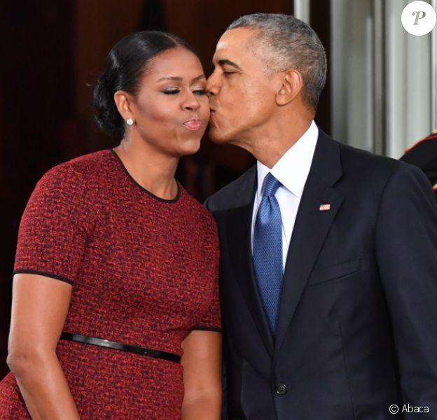 Michelle et Barack Obama à la Maison-Blanche. Washington, le 20 janvier 2017.