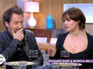 """Monica Bellucci et Edouard Baer : Leur premier baiser """"très bien fait"""" au cinéma"""