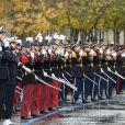 Emmanuel Macron - Cérémonie du 101ème anniversaire de l'Armistice à l'Arc de Triomphe à Paris le 11 novembre 2019. © Jacques Witt/Pool/Bestimage