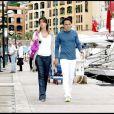 Felipe Massa et sa femme Rafela, enceinte, sur le port de Monaco, en mai 2009.