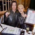 """Per Gessle et Marie Fredriksson du groupe Roxette fêtent les 25 ans de leur tube """"The Look"""" à Stockholm, le 8 avril 2014."""