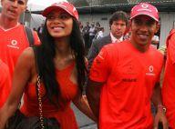 Nicole Scherzinger donne le baiser de la victoire... à son chéri Lewis Hamilton !