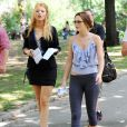 Blake Lively et Leighton Meester sur le tournage de la troisième saison de  Gossip Girl , à New York, le 27 juillet 2009 !