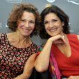 Sylvie Flepp et Anne Canovas lors du 12e festival Les Hérault du Cinéma et de la Télévision au Cap d'Agde, le 18 juin 2015