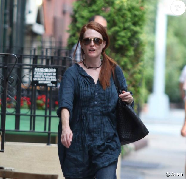 Julianne Moore, à New York, le 28 juillet 2009 !