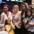 Exclusif - Mel B en famille pour fêter l'anniversaire d'une de ses filles au restaurant Hatsatoun à Los Angeles, le 4 avril 2018