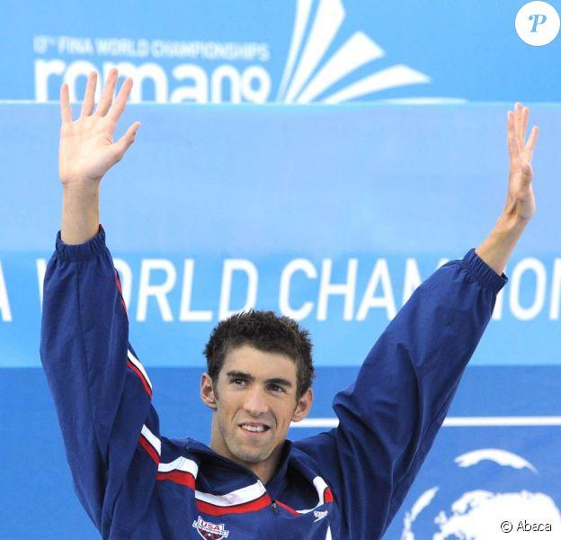Michael Phelps, champion du monde du 200 m papillon en 2009, à Rome