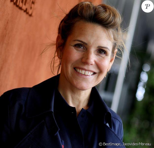 Laura Tenoudji au village lors des internationaux de France de Tennis de Roland Garros 2019 à Paris, France, le 27 mai 2019. © Jacovides-Moreau/Bestimage