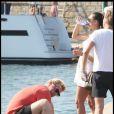 Boris Becker en vacances à Saint-Tropez