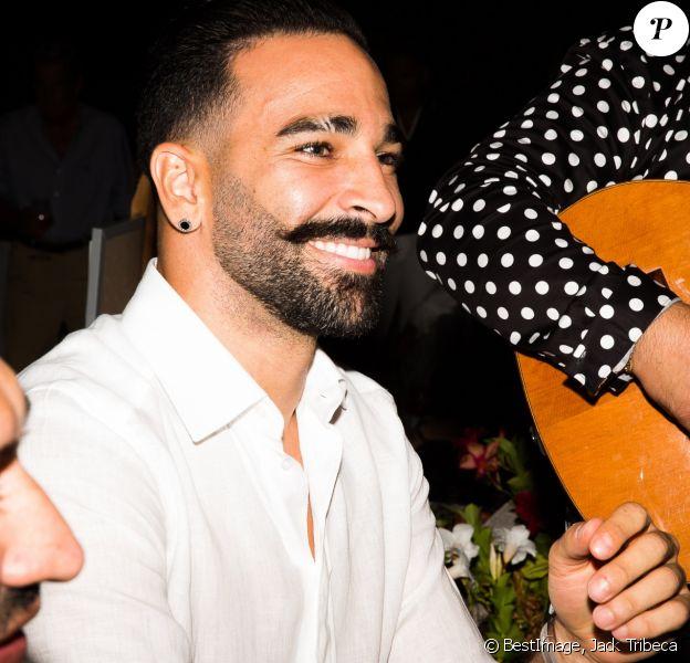 Adil Rami assiste à la soirée des 50 ans de l'hôtel le Mas de Bellevue à Saint-Tropez, Côte d'Azur, France, le 8 août 2019. © Jack Tribeca/Bestimage