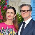 """Colin Firth et Livia Giuggioli à la première de """"Mamma Mia! Here We Go Again"""" au cinéma Eventim Apollo à Londres, le 16 juillet 2018."""