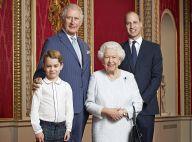 Prince George adorable : nouveau portrait avec William, Charles et la reine
