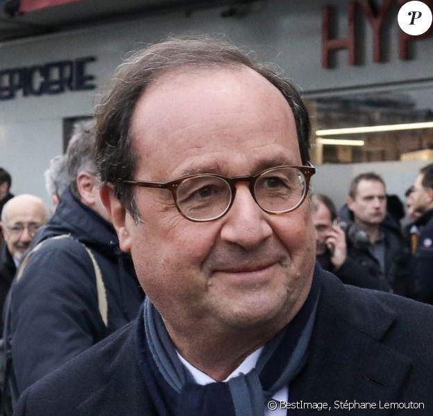 François Hollande - Commémoration de l'attentat de l'Hyper Cacher le 9 janvier 2015 Porte de Vincennes à Paris, le 7 janvier 2020 © Stéphane Lemouton / Bestimage