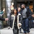 Kim Kardashian et son mari Kanye West quittent l'hôtel Ritz-Carlton à New York, le 7 novembre 2019.