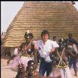 Archives- Daniel Balavoine en Afrique, le 23 janvier 1985.