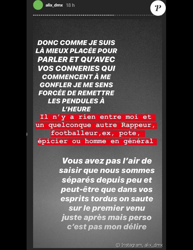 Alix confirme sa séparation avec Benjamin sur Instagram - 15 janvier 2020