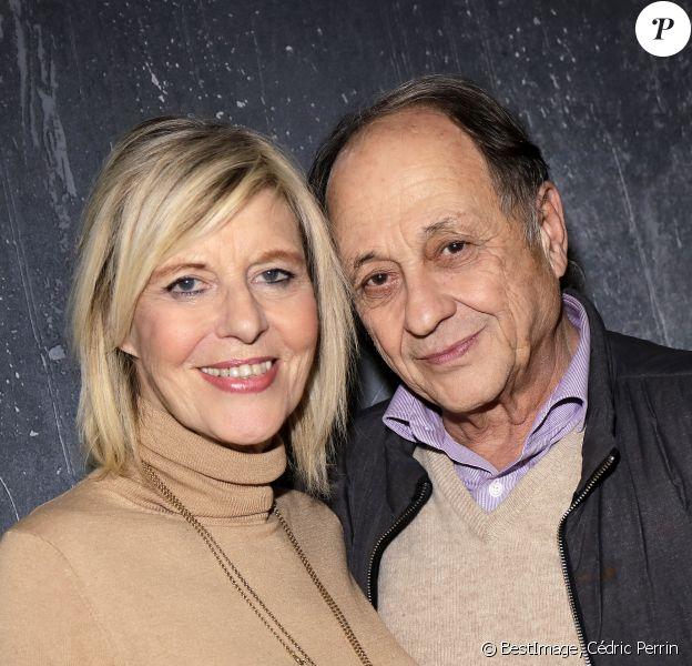 Exclusif - Rendez-vous avec Chantal Ladesou et son mari Michel Ansault à Paris le 13 janvier 2020. © Cédric Perrin/Bestimage