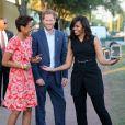 Le prince Harry et Michelle Obama - Cérémonie d'ouverture des Invictus Games à Orlando. Le 8 mai 2016