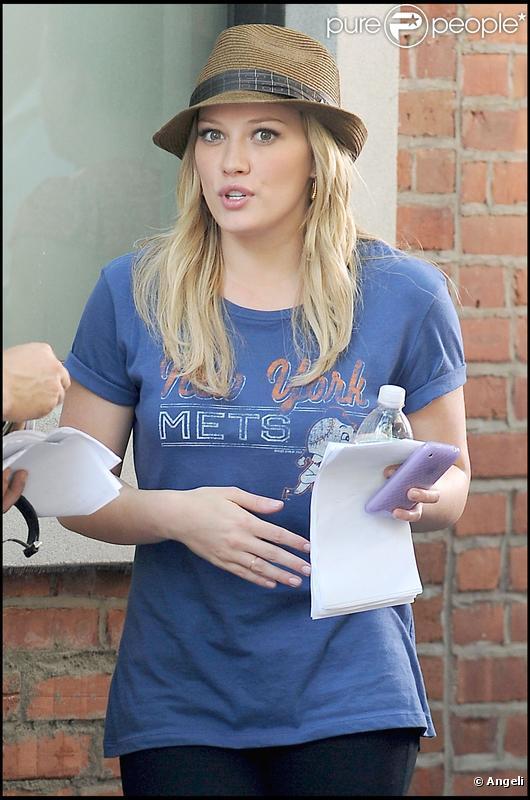 Hilary Duff sur le tournage de  Gossip Girl  saison 3. Août 2009