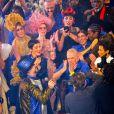 """Winnie Harlow, Karlie Kloss, Anna Cleveland, Cristina Cordula, Jean-Paul Gaultier, Boy George, Rossy de Palma, Farida Khelfa, Suzanne Von Aichinger et Amanda Lear lors du dernier défilé de mode Haute-Couture printemps-été 2020 """"Jean-Paul Gaultier"""" au théâtre du Châtelet à Paris, France, le 22 janvier 2020. © Veeren-Clovis/Bestimage"""