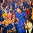 """Karlie Kloss, Anna Cleveland, Cristina Cordula, Jean-Paul Gaultier, Boy George, Rossy de Palma, Farida Khelfa, Suzanne Von Aichinger et Estelle Lefébure lors du dernier défilé de mode Haute-Couture printemps-été 2020 """"Jean-Paul Gaultier"""" au théâtre du Châtelet à Paris, France, le 22 janvier 2020. © Veeren-Clovis/Bestimage"""