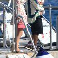 Kylie Jenner, Travis Scott, Stormi Webster - Le clan Jenner quitte l'Hôtel du Cap-Eden-Roc après un déjeuner en famille au Cap d'Antibes le 14 août 2019.