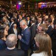 Le prince Charles, prince de Galles, assiste à une réception à la résidence de l'ambassadeur à Tel Aviv, le 23 janvier 2020, lors du premier jour de sa visite en Israël.