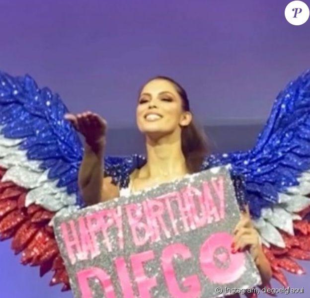Iris Mittenaere au Paradis Latin lors de l'anniversaire de son amoureux Diego El Glaoui, le 11 janvier 2020.
