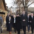 La reine Letizia et le roi Felipe VI d'Espagne en visite à Auchwitz-Birkenau le 27 janvier 2020 pour le 75e anniversaire de la libération du camp de concentration.