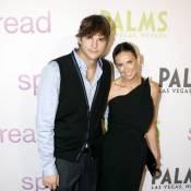 """Demi Moore et Ashton """"ToyBoy"""" Kutcher plus sages à Las Vegas... mais toujours aussi glamour !"""