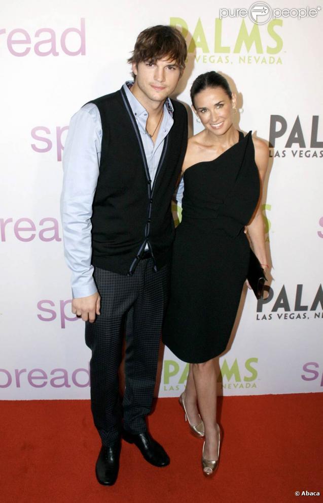 Demi Moore et Ashton Kutcher, au Palms de Las Vegas, à l'occasion de l'avant-première de  Toy Boy , le 5 août 2009 !