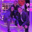 """Jazz et son mari Laurent en tournage pour l'émission """"Les 12 coups de midi spéciale Saint Valentin"""" - 28 janvier 2020, TF1"""