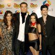 Monica Cruz, Pablo Puyol, Beatriz Luengo et Miguel Angel Muñoz aux TV Golden Awards. Madrid. Le 20 janvier 2003.