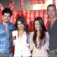 Miguel Angel Muñoz, Monica Cruz, Beatriz Luengo et Pablo Puyol - Présentation de la tournée 2003 du groupe UPA Dance. Madrid.
