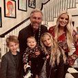 Jessica Simpson, son mari Eric Johnson et leurs trois enfants : Ace Knute, Maxwell Drew et Birdie Mae. Le 29 novembre 2019.