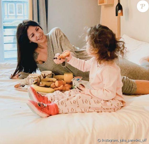 Julia Paredes avec sa fille Luna, le 26 janvier 2020, photo Instagram