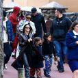 Corey Gamble, Kylie Jenner, Kourtney Kardashian, Kris Jenner, Penelope Disick - Exclusif - Les Kardashian passent la journée à Disney Magic Kingdom à Orlando en Floride, le 23 janvier 2020