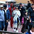 Corey Gamble, Kylie Jenner, Kourtney Kardashian, Travis Scott - Exclusif - Les Kardashian passent la journée à Disney Magic Kingdom à Orlando en Floride, le 23 janvier 2020